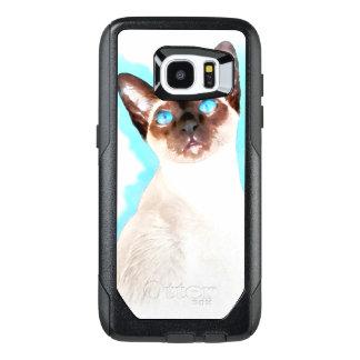 Siamese Cat Watercolor Art OtterBox Samsung Galaxy S7 Edge Case