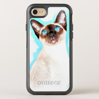 Siamese Cat Watercolor Art OtterBox Symmetry iPhone 8/7 Case