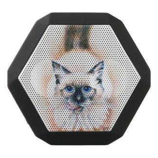 Siamese Cat Watercolor Black Bluetooth Speaker