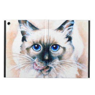 Siamese Cat Watercolor Case For iPad Air
