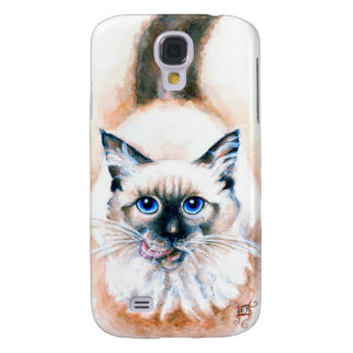 Siamese Cat Watercolor Galaxy S4 Cases