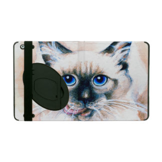 Siamese Cat Watercolor iPad Case