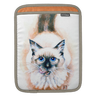 Siamese Cat Watercolor iPad Sleeve
