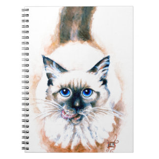 Siamese Cat Watercolor Notebook
