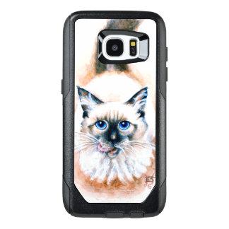 Siamese Cat Watercolor OtterBox Samsung Galaxy S7 Edge Case