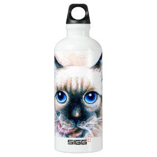 Siamese Cat Watercolor Water Bottle