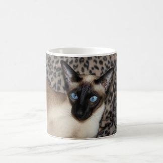 Siamese Cat with Leopard Print Wild Animal Spots Coffee Mug