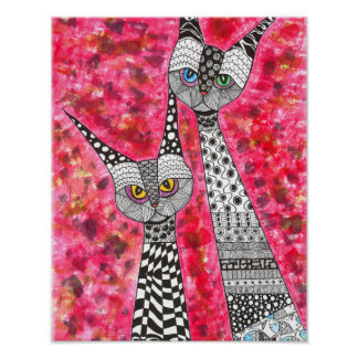 """Siamese Cats Poster 11"""" x 14"""" (You can Customize)"""