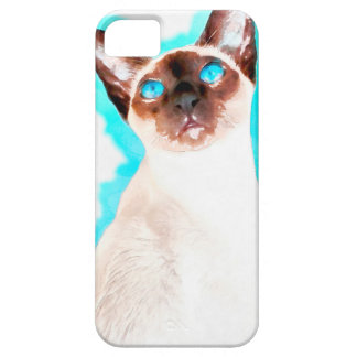 Siamese CatWatercolor Art iPhone 5 Cover