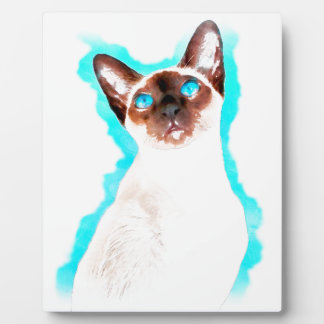 Siamese CatWatercolor Art Plaque
