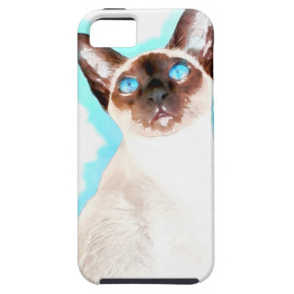Siamese CatWatercolor Art Tough iPhone 5 Case