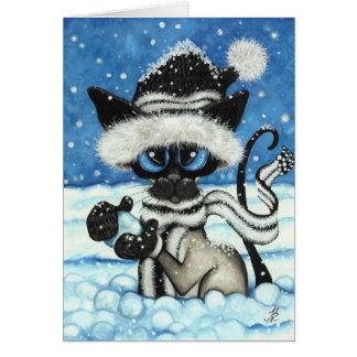 Siamese Christmas Cat by BiHrLe Card