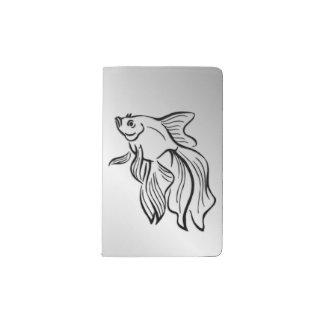 Siamese Fighting Fish Pocket Moleskine Notebook
