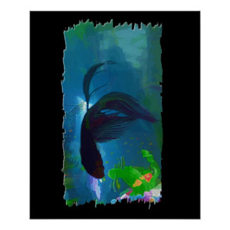 Siamese Fighting Fish Poster