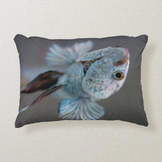 Siamese fish accent cushion