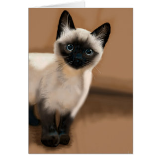 Siamese Kitten All Occasion Greeting Card