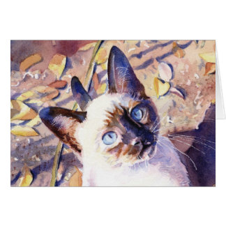Siamese Kitten Card