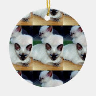 Siamese Kittens Ornament