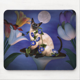 Siamese  Moonlight Mouse Pad