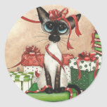 Siamese Red Ribbon Stickers