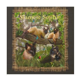Siamese Sophie Wood Print