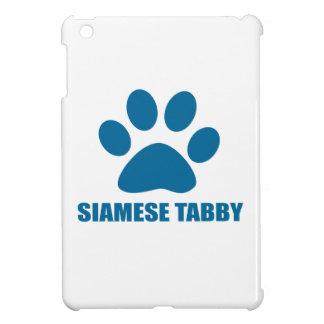 SIAMESE TABBY CAT DESIGNS iPad MINI CASE