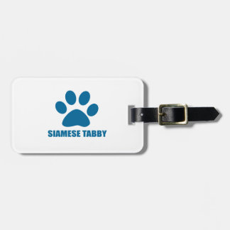 SIAMESE TABBY CAT DESIGNS LUGGAGE TAG