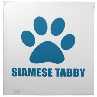 SIAMESE TABBY CAT DESIGNS NAPKIN