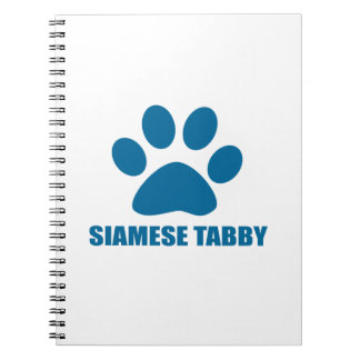 SIAMESE TABBY CAT DESIGNS NOTEBOOK