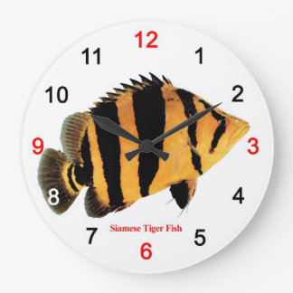 Siamese Tiger fish Large Clock