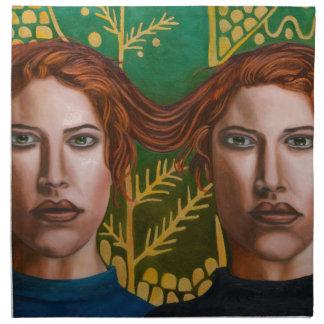 Siamese Twins 5 Printed Napkin