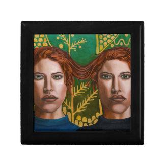 Siamese Twins 5 Small Square Gift Box
