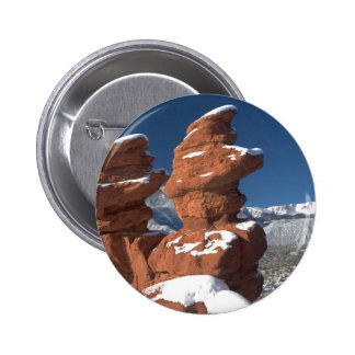 Siamese Twins and Pikes Peak Pinback Button