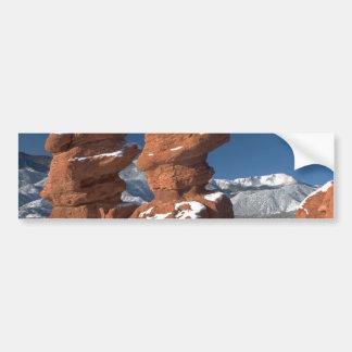 Siamese Twins and Pikes Peak Bumper Sticker