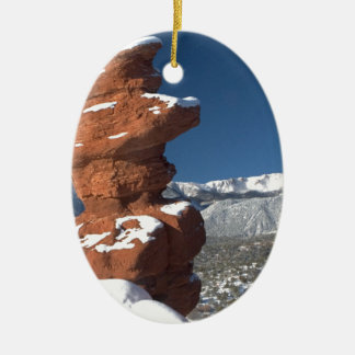 Siamese Twins and Pikes Peak Ceramic Oval Decoration