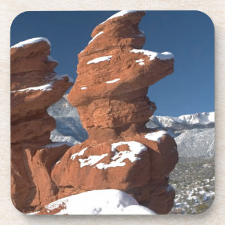 Siamese Twins and Pikes Peak Drink Coaster