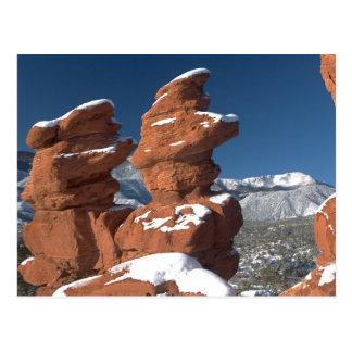 Siamese Twins and Pikes Peak Postcard