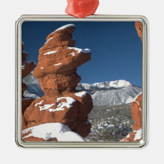 Siamese Twins and Pikes Peak Silver-Colored Square Decoration