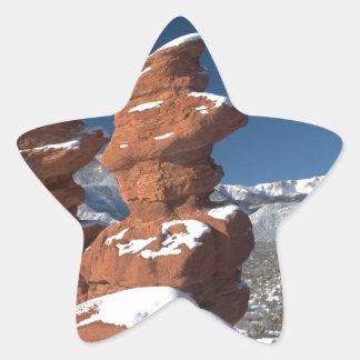 Siamese Twins and Pikes Peak Star Sticker