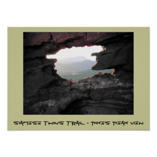 Siamese Twins Trail - Pikes Peak View Poster