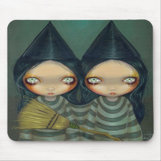 """""""Siamese Witch Twins"""" Mousepad"""