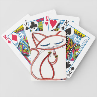 Siamese with an Attitude Bicycle Playing Cards