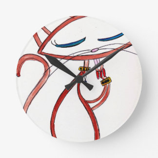 Siamese with an Attitude Wall Clock