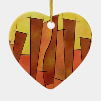 Siangonissa V1 - falling leaves Ceramic Heart Decoration