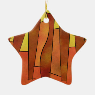 Siangonissa V1 - falling leaves Ceramic Star Decoration