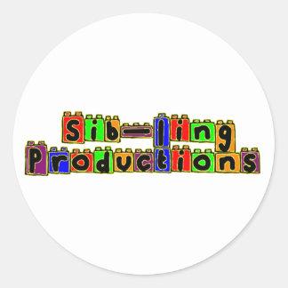 Sib-Ling Logo Round Stickers