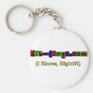 Sib-Lings.com Logo Basic Round Button Key Ring