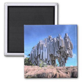 Sibelius Monument Helsinki Finland Fridge Magnet