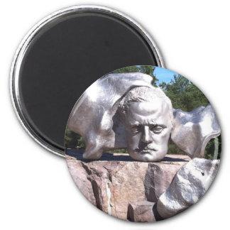 Sibelius's Head 6 Cm Round Magnet