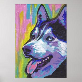 Siberain Husky Pop Art Print